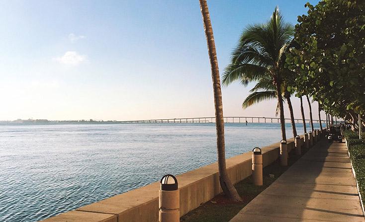 Running Around Miami's Brickell Key