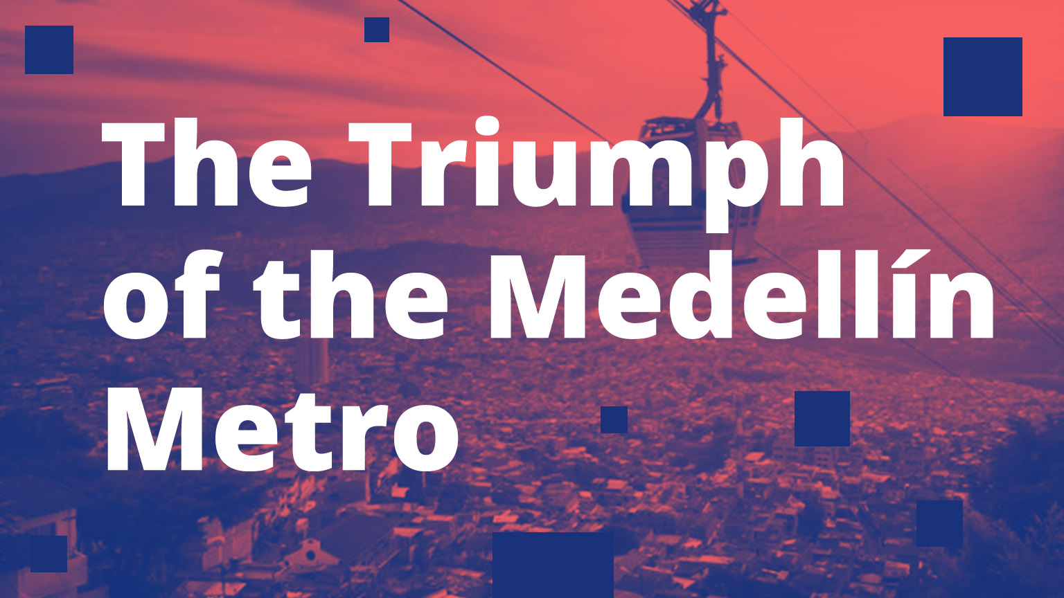 Medellin Colombia metro cable above city and valley