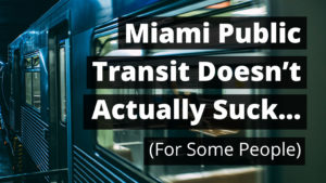 Miami Transit cover - public transit metro train at night