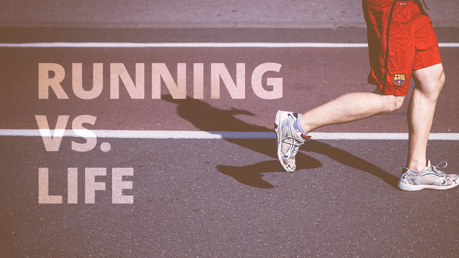 Running cover - man jogging on running track